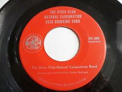 The Utica Club Natural Carbonation Beer Drinking Song 45 1968 Vinyl Record