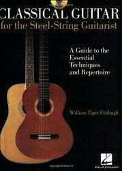 CLASSICAL GUITAR FOR STEEL-STRING GUITARIST INSTRUCTIONAL BOOKCD By William NEW