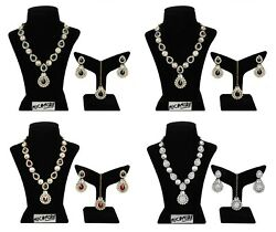 Indian Fashion Set Jewelry Necklace Gold Plated Bollywood Bridal Wedding Style