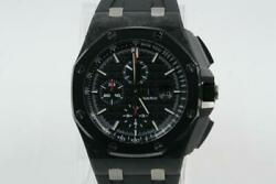 Audemars Piguet 44mm Royal Oak Offshore Chronograph Carbon Case Black Index Dial