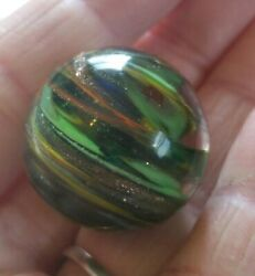 Lutz Onionskin Marble Shooter Multi Colors Sparkly Glitter Swirl Art Glass $48.88
