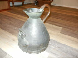 LARGE ANTIQUE FOR GALLON COPPER MEASURING JUG 19TH C. Unique $450.00