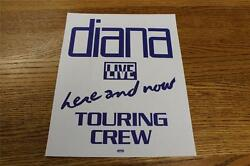 Vintage OTTO Backstage Concert Door Sign Diana Ross Here & Now Live Touring Crew