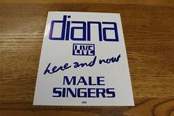 Vintage OTTO Backstage Concert Door Sign Diana Ross Here & Now Live MALE SINGERS