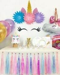 40pcs Unicorn Party Decoration Supplies Birthday Baby Shower Party for Girls $65.00