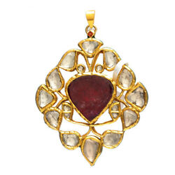 Easter Gift 24.76 Natural Other Pendant 22k Yellow Gold Diamond Jewelry