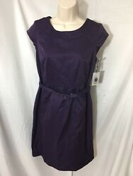 #383– Merona Purple Dress Size 6 Lined New $9.80