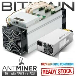 BITMAIN AntMiner T9 10.5THs with PSU Lightly Used. Great Condition US SELLER