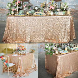 6Size Sparkly Sequin Tablecloth Cover WeddingDessert Dinning Table UNIVERSAL