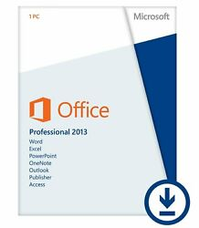 Microsoft Office 2013 Professional 3264 Bit Retail for 2 PC w. ORIG MS USB
