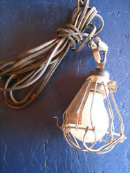 Wire metal Trouble Drop Light Bulb Cage Vintage Industrial Antique Lamp REDUCED $22.50