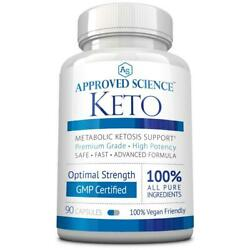 Approved Science® Keto: Pure Exogenous 4 Ketone Salts (Calcium Sodium...