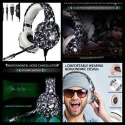 PS4 PC Xbox One Gaming Headset 7.1 Surround Sound with Mic Soft Earmuff NEW