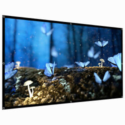 60quot; 120quot; 150quot; Portable Foldable Wall Projector Screen 16:9 Home Theater Outdoor $6.39