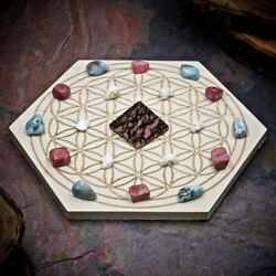 HSFY: Attract Your Soulmate Mini Crystal Grid Set Small Crystal Grid Kit $26.00