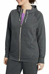 Champion Plus Size French Terry Full Zip Hoodie QW1237 Gray 1X NWT $46 $23.00