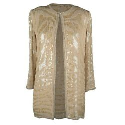 Halston Jacket Vintage Beaded w Pearls and Paillettes S