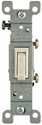 Leviton Light Switch Light Almond 1451 2TM 15A 120V AC CA