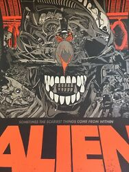 Tyler Stout Alien Regular Edition Print Artist Proof Signed and Numbered Mondo