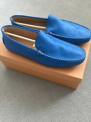 VTG Brand New In Box Gorgeous Men#x27;s Blue Leather Tod#x27;s Mocs Drivers size 9 US10  $225.00
