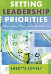 SETTING LEADERSHIP PRIORITIES: WHAT'S NECESSARY WHAT'S NICE AND By Mint