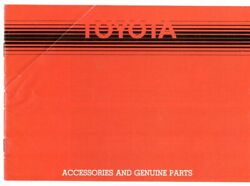Toyota Car amp; Commercial Accessories 1982 83 UK Market Sales Brochure