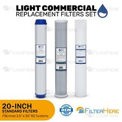 Reverse Osmosis Light Commercial Replacement Filter 2.5quot; x 20quot;