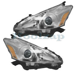 For 12 14 Prius V Wagon 1.8L Front Headlight Headlamp Head Light Lamp Set Pair $361.95