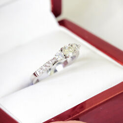 Recent Estate Age 18ct White Gold Past Present Future Diamond Engagement Ri...