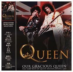 QUEEN-OUR GRACIOUS QUEEN: LIMITED JAPAN EDITION ON RED WHITE & BLUE SWIRL VINYL