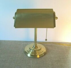 Portable Metal~Bankers Style~Office~Home~Student~DESK LAMP with Pull Chain $24.99