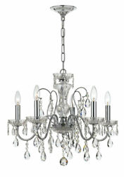 Crystorama 3025 CH Traditional Crystal Chandelier Polished Chrome $199.90