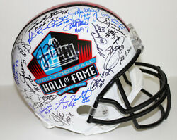 HALL OF FAME FULL SIZE HELMET Signed By 45 Starr Staubach Namath E. Smith +