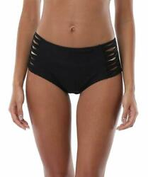 Attraco Women#x27;S Bikini Bottoms High Cut Swim Bottom Ruched Swimwear Briefs $25.36