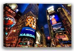 New York City Lights Night View Wall Art NY Giants NY Gifts American Nightlife