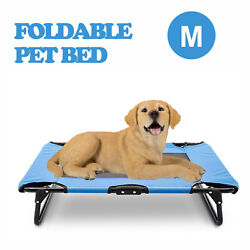 Foldable Elevated Pet Bed Dog Cat Cot Raised Cooling Camping Pet Cozy Lounger $28.99