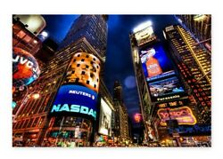 New York City Lights Night View Wall Art NY Giants NY Gifts Nightlife Art Poster