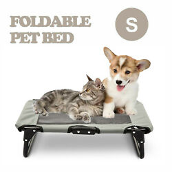 Elevated Pet Bed Dog Cat Cot Portable Folding Cooling Camping Pet Cozy Lounger $25.99