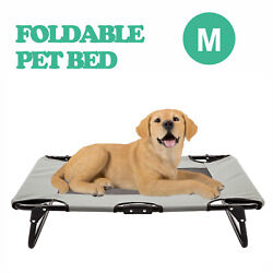 Folding Elevated Pet Bed Dog Cat Cot Raised Cooling Camping Pet Cozy Lounger $28.99