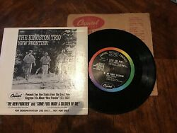 Vintage The Kingston Trio - New Frontier - Vinyl EP.