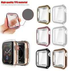 [2 Pack] For Apple Watch Series 4 40mm 44mm 2018 Soft TPU Protective Case Cover