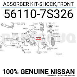 561107S326 Genuine Nissan ABSORBER KIT-SHOCKFRONT 56110-7S326