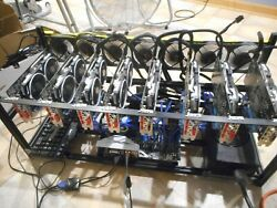 8 GPU RX580 8gb Crypto Currency Mining Rig 238 MHs Ethereum Monero Zcash