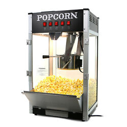 Paramount 16oz Commercial Popcorn Maker Machine 16 oz Kettle Popper Black