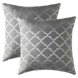 Set of 2 Jacquard Geometric Throw Pillow Case Sofa Waist Cushion Cover Home Deco $7.98