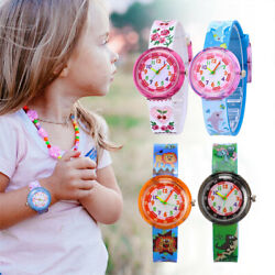 Cartoon Watch Kids Boys Girls Sports Wrist Children Snap Silicone Pointer Table