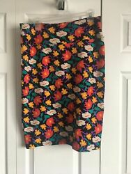 LuLaRoe Cassie Pencil Skirt Design Size Small Black Red White NWT $10.00