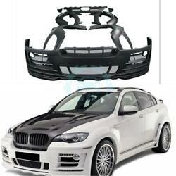 Cars Front Bumper Side Skirt Rear Bumper Fit For BMW X6 E71 Resin Refitkml