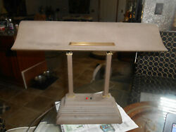 Vintage XL 1940's Art Deco Industrial Bankers Student Airplane Wing Desk Lamp
