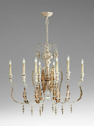 French Country Chandelier Vintage Chateau Style White $1047.50